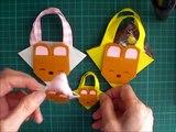 折り紙 クマのバック 簡単な折り方(niceno1)Origami teddy bear bag tutorial-ppQ0UmF1RAM