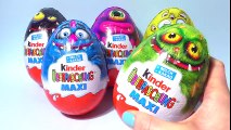 Kinder MAXI Surprise Eggs Toys Киндер Сюрприз Игрушки Kinder Überraschung Easter Eggs
