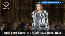 Natalia Vodianova and Natasha Poly Balmain First Look Paris Fashion Week S/S 18| FashionTV | FTV