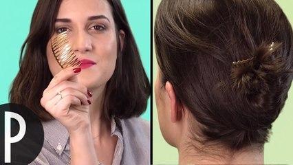 Différentes coiffures avec un peigne