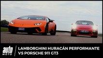 Lamborghini Huracán Performante vs Porsche 911 GT3 : The Voice Cars
