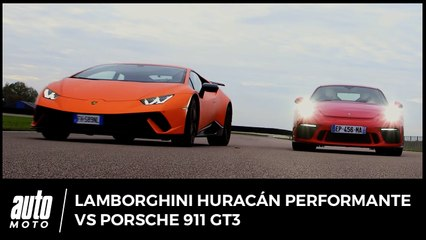 Lamborghini Huracán Performante vs Porsche 911 GT3 : The Voice Cars