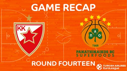 EuroLeague 2017-18 Highlights Regular Season Round 14 video: Zvezda 63-69 Panathinaikos