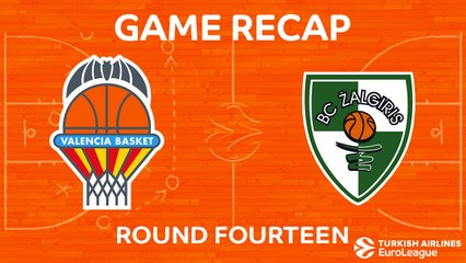EuroLeague 2017-18 Highlights Regular Season Round 14 video: Valencia 63-71 Zalgiris