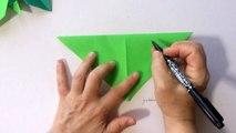 折り紙 朝顔の葉 折り方-RNxlLKzb4zU