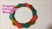 折り紙 簡単なクリスマスリース      Origami wreath-PHaXQfjtzKw