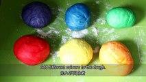 How to make Rainbow Bagels 彩虹貝果-QkoXtGJrtn0