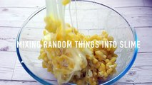 Mixing Random Things Into Clear Slime! EPIC Crunchy Slime _ ASMR Oddly Satisfying Food Slimes-7RBstCtCJcQ