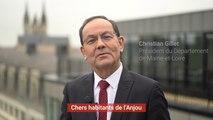 Voeux de Christian Gillet, président du Département de Maine-et-Loire