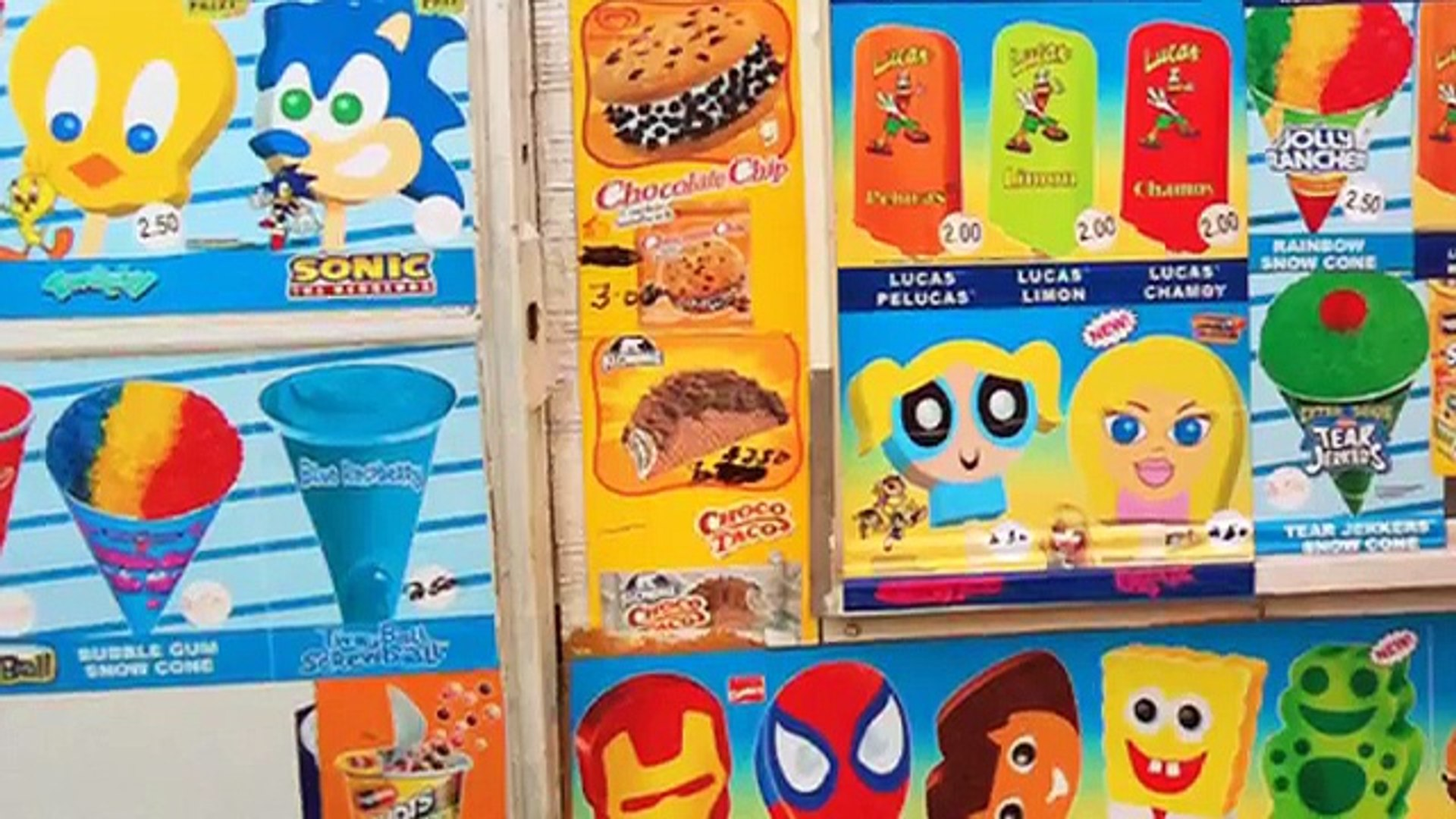 The Many Releases Of The Sonic The Hedgehog Ice Cream Bar W Gumball Eyes Dailymotion Video
