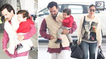 Kareena And Saif Ali Khan Returning To Mumbai After Taimur's Birthday