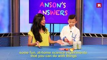 Anson Wong, boy genius, moves cans with static electricity | Anson's Answers