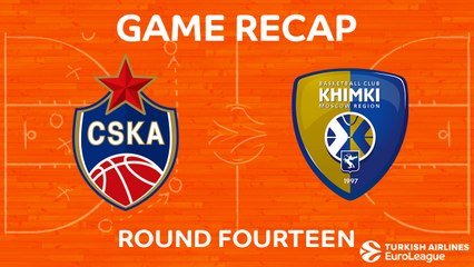 EuroLeague 2017-18 Highlights Regular Season Round 14 video: CSKA 79-68 Khimki