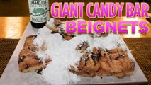 GIANT Deep Fried Snickers Candy Bar Beignets with Coffee Glaze | DFC!