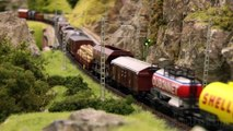 Model railroad layout in HO scale with steam locomotives and steam trains | Pilentum Television - The world of model trains