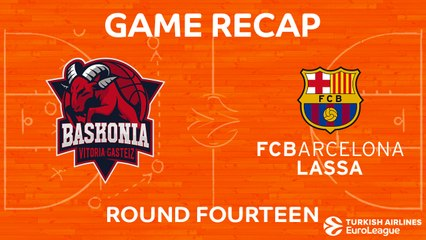 EuroLeague 2017-18 Highlights Regular Season Round 14 video: Baskonia 85-82 Barcelona