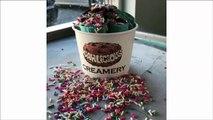 ice cream rolls compilation ( ASMR ) - fried thai rolled ice cream - how to make ice cream rolls-a8ng3bIO8mg