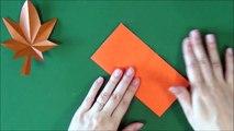 Origami 'Maple' 折り紙「もみじ」折り方 切り方-Sx2xABSadl4