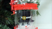 DIY Crafts - Christmas Gift Ideas - Snowman in Plastic Bottle Recycled Bottles Crafts-SRI0FOERCSY