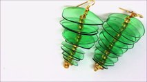 DIY Earrings - Recycled Jewelry Ideas from Plastic Bottle - Recycled Bottles Crafts-BJMV0draI-g