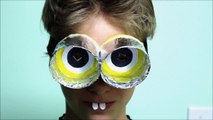 DIY Recycled Crafts How to Make Funny MINIONS Funny Glasses Recycled Bottles Crafts-2rxYU8I2Umg