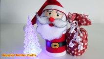 Recycled Crafts Ideas - DIY Santa Christmas Gifts _Plastic Bottles,  Felt_ - Recycled Bottles Crafts-GBGTSOU8wTM