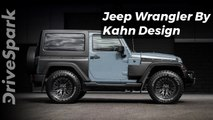 Khan Design Jeep Wrangler Black Hawk Edition - DriveSpark