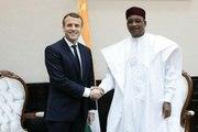 Conférence de presse conjointe du Président de la République, Emmanuel Macron et de M. Mahamadou Issoufou, Président de la République du Niger.