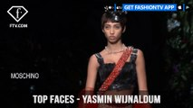Yasmin Wijnaldum Top Faces Green-Eyed Dutch Beautiful Model | FashionTV | FTV