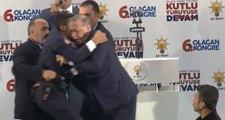 Şehit Yakını, Korumaları Aşıp Erdoğan'a Sarıldı, Kameralar Anbean Kaydetti