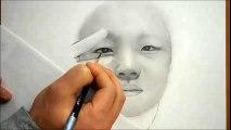 인물드로잉(조카 이찬석그리기) - Drawing a realistic portrait with pencil / Speed drawing