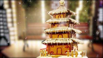 收下这座吸赞神器姜饼锁妖塔!镇住所有的圣诞轰趴【曼食慢语】【Amanda Tastes】 4K