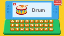 abc kid - phonics song with two words - a for apple - abc alphabet songs with sounds for child