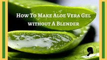 HOW TO MAKE ALOE VERA GEL In 5 MINS AT HOME / HOW to CUT ALOE VERA LEAVES / Aloe vera ge l / Aloevera