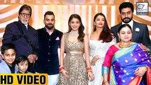 Amitabh, Aishwarya & Abhishek At Anushka And Virat's Reception