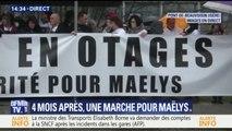 Préparation de la marche blanche à Pont-de-Beauvoisin, quatre mois après la disparition de Maëlys