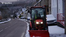 Weather warning as heavy snow hits Scottish Highlands