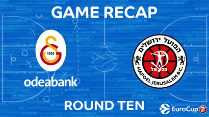 7DAYS EuroCup Highlights Regular Season, Round 10: Galatasaray 87-68 Jerusalem