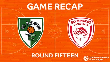 EuroLeague 2017-18 Highlights Regular Season Round 15 video: Zalgiris 74-68 Olympiacos