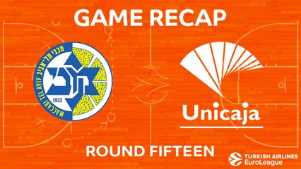 EuroLeague 2017-18 Highlights Regular Season Round 15 video: Maccabi 78-89 Unicaja