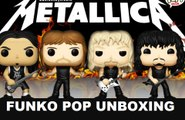 Metallica Funko Pop James Hetfield,Kirk,Lars Ulrich & Robert  Vinyl Figure Unboxing