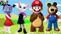 Wrong Heads VAMPIRINA Super Mario Talking Angela Masha and the Bear The Alphabet Song for kids fun