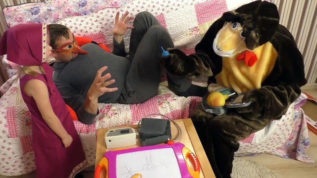 Masha and the Bear cartoon MASHA AND the BEAR Play doctor with INJE