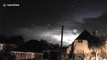 Time-lapse video of lightning storm over UK's Cornwall