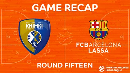 EuroLeague 2017-18 Highlights Regular Season Round 15 video: Khimki 65-79 Barcelona