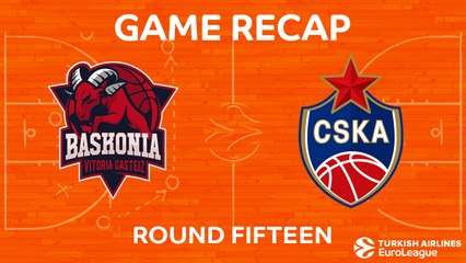 EuroLeague 2017-18 Highlights Regular Season Round 15 video: Baskonia 81-90 CSKA