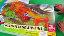 Thomas and Friends _ Thomas Adventures Misty Island Zipline with Thomas Train! Fun Toy Trains 4