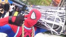 SPIDER-MAN - Spider-Verse Dance Battle in New York! Spidey Breakdancing | Superheroes | Spiderman | Superman | Frozen Elsa | Joker