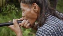 Ce chasseur indigène est trop fort avec sa sarbacane !