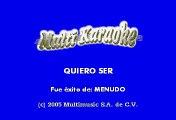 Menudo - Quiero Ser (Karaoke)